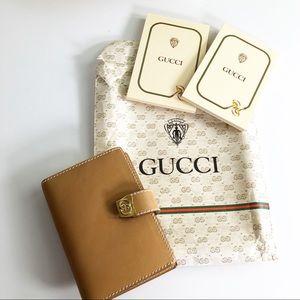 Gucci Authentic Vintage Brown Mini Planner NWOT 🔥